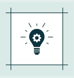 Idea bulb icon simple gear vector