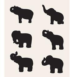 Image an elephant silhouette vector