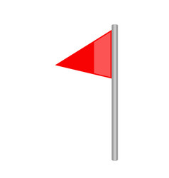 isolated soccer corner flag icon vector image