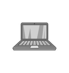 Laptop icon black monochrome style vector image