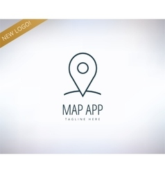 Map marker on the map icon element Place travel vector