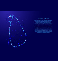 map sri lanka from the contours network blue vector image