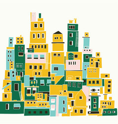 mediterranean town sunny village indian slums vector image