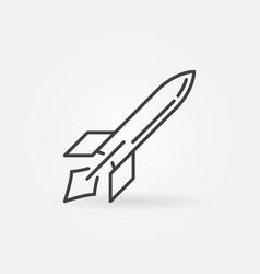 Missile outline icon war linear symbol vector