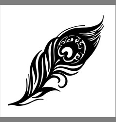Peacock feather firebir feather forged element vector