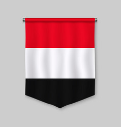 pennant with flag vector image