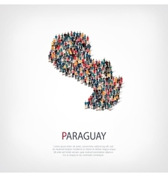 People map country Paraguay vector