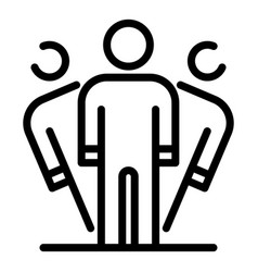 Person disorder icon outline style vector