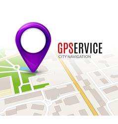 Perspective city map GPS service concept 3d city vector