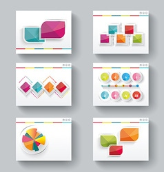 Presentation slide templates for your business vector image