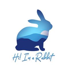 Rabbit quote vector