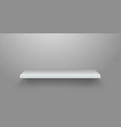 realistic bookshelf empty shelf on wall vector image