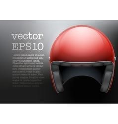 Red Motorcycle helmet vector image