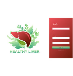 registration form design internal organs liver vector image