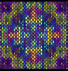 Seamless geometric pattern based on ikat fabric vector