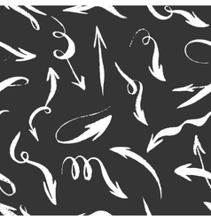 Seamless hand drawn monochrome arrows pattern vector