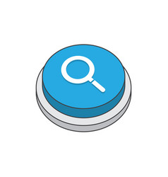 search magnifier sign pictograph vector image