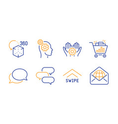 Seo shopping messenger and thoughts icons set vector