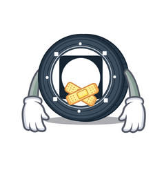 Silent byteball bytes coin mascot cartoon vector