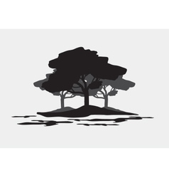 Silhouettes of forest vector