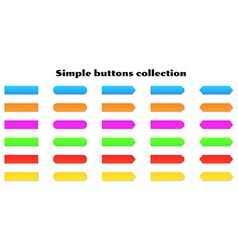 simple buttons vector image