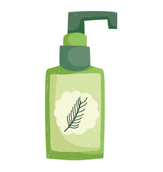 skin care beauty treatment product bottle herbal vector image