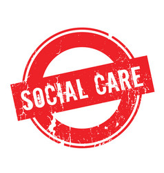social care rubber stamp vector image