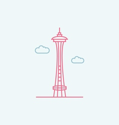 Space Needle vector image