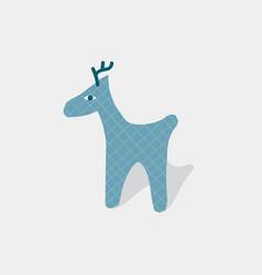 still life blue deer postcard vector image