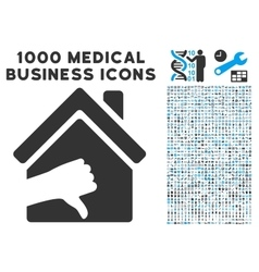 Terrible House Icon with 1000 Medical Business vector