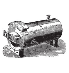 Trentham boiler vintage vector