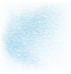 Wavy hand-drawn white pattern on blue background vector image