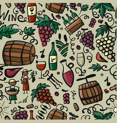 Winery seamless pattern for your design vector