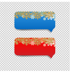winter speech bubble with snowflake border vector image