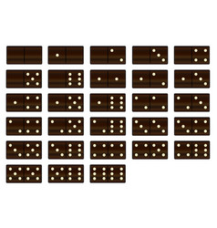 wooden dominoes set vector image