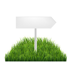 Wooden signs with green grass vector