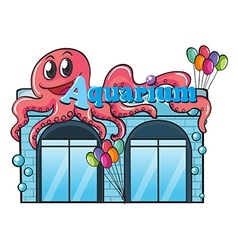 Aquarium and octopus vector image vector image