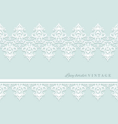 lace decorative border set on pastel blue bridal vector image vector image