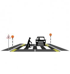 zebra crossing oap vector image