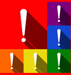 attention sign set of icons vector image