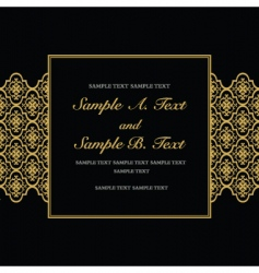 gold formal frame vector image vector image