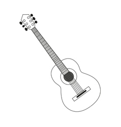 guitar contour black white vector image