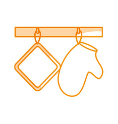 kitchen glove isolated icon vector image