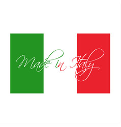 made in italy symbol italian flag vector image vector image