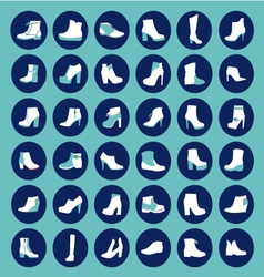 Shoes silhouettes - vector image vector image