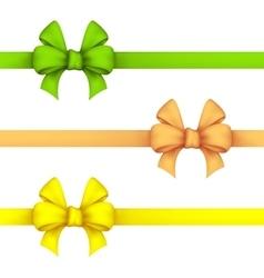 Green daffodil and yellow gift bows vector image vector image
