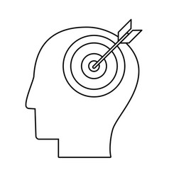 head human target outline vector image