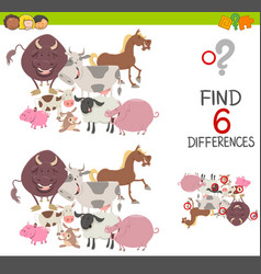 Preachool finding differences game vector