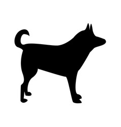 silhouette of dog dog sign vector image vector image