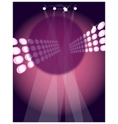 Disco lights vector image